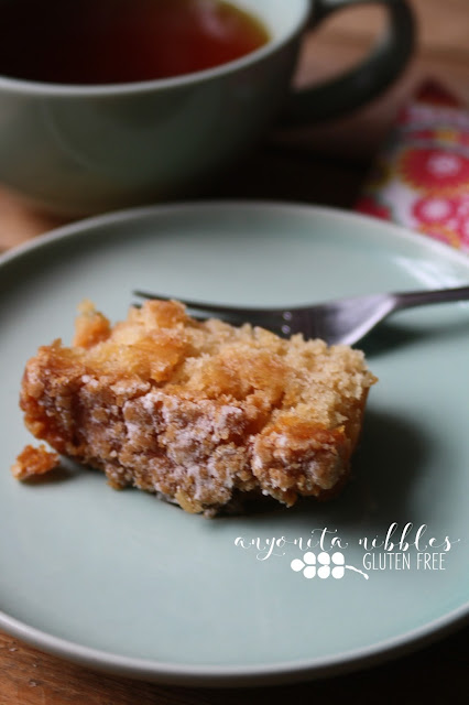 A slice of Mr Kipling Gluten Free Apple Loaf Cake on Anyonita-Nibbles