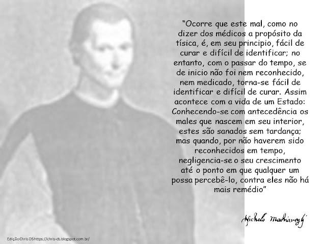 Referência   MAQUIAVEL, Nicolau. O príncipe (Trad. Antonio Caruccio-Caporale). Vol 110 São Paulo: L&PM Editores: Porto Alegre, 2017.