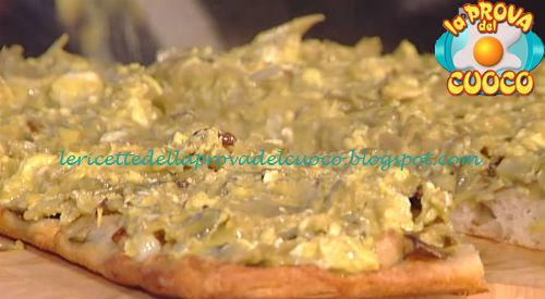 Pizza ai carciofi uovo e pecorino ricetta Bonci da Prova del Cuoco