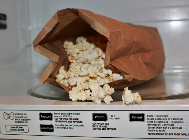 this is how to make popcorn in a brown paper bag