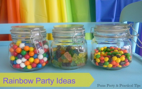 Rainbow Party Ideas, Rainbow Candy