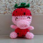patron gratis cerdo fresa amigurumi | free pattern amigurumi pig strawberry