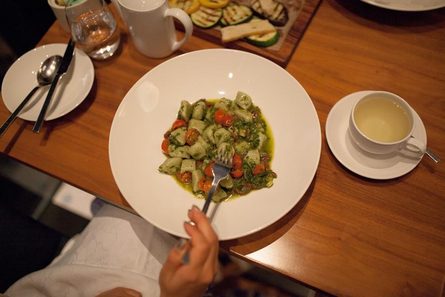 vegan gnocchi italian abu dhabi radisson blu