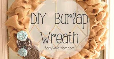 DIY Burplap Wreath Tutorial