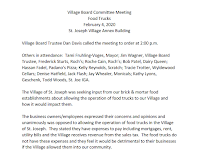 February 4 food truck committee minutes