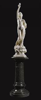 Night Henri Weigele, French sculptor, 1858 - 1927 White marble, marble Auction details at Invaluable.
