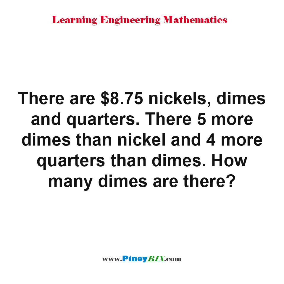 How many dimes are there?