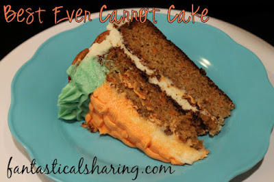 Best Ever Carrot Cake | This carrot cake is moist and fluffy making it the BEST EVER!! #recipe #cake #carrotcake #SundaySupper #dessert #easter #spring