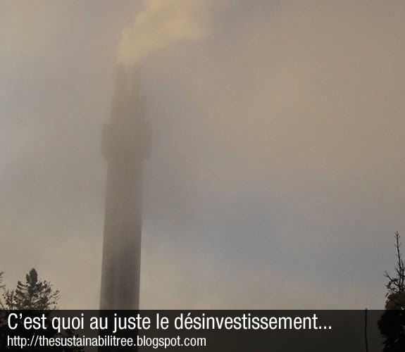The uOttawa chimney during a high smog alert day