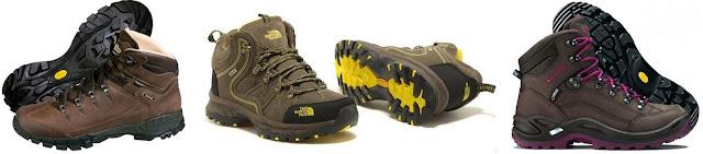 contoh sepatu hiking vibram