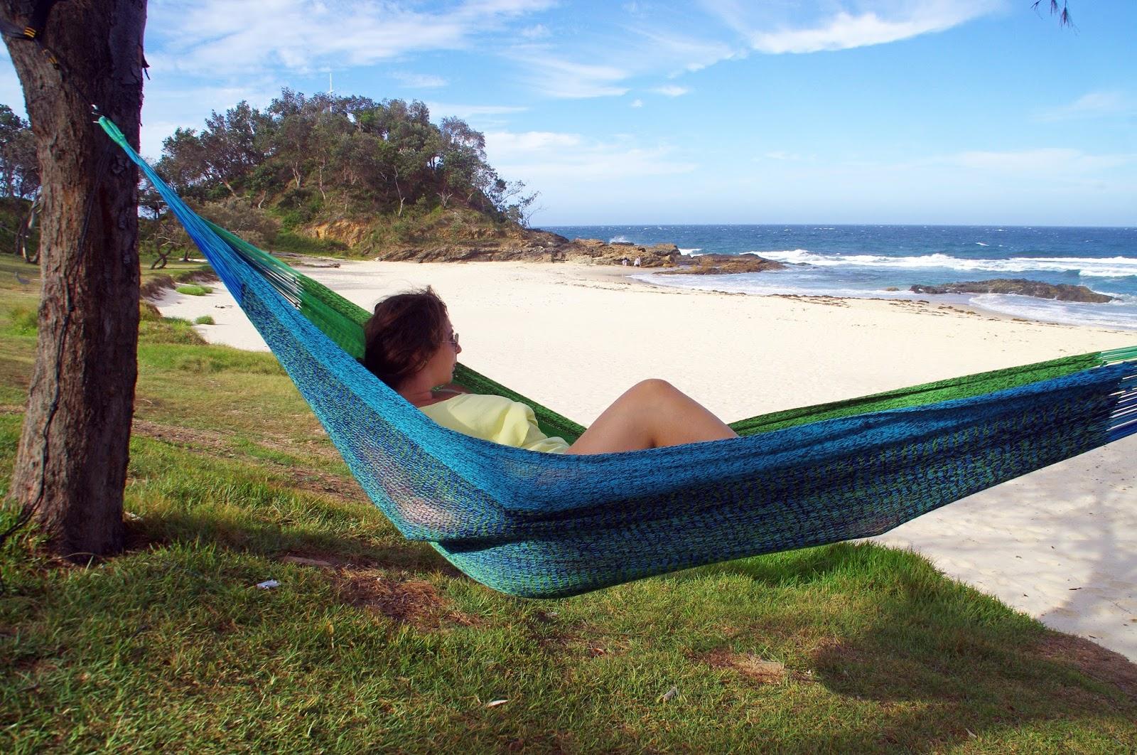 Girl relaxing in West Coast Hammocks