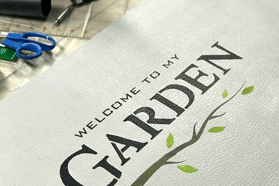 Garden Stenciled Bathroom Mat