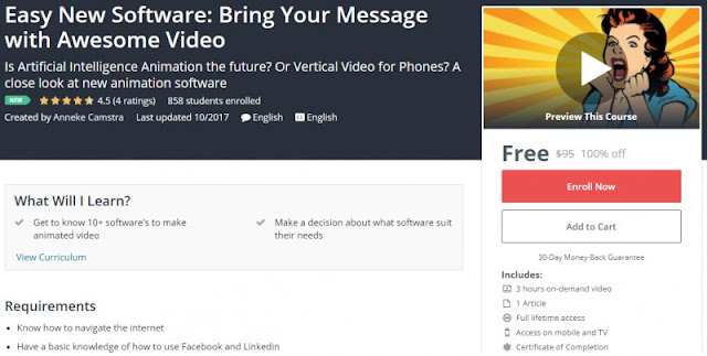 [100% Off] Easy New Software: Bring Your Message with Awesome Video|Worth 95$