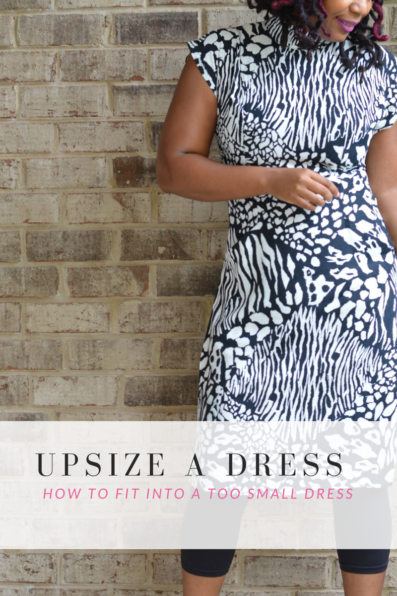 how to alter a dress that's too small