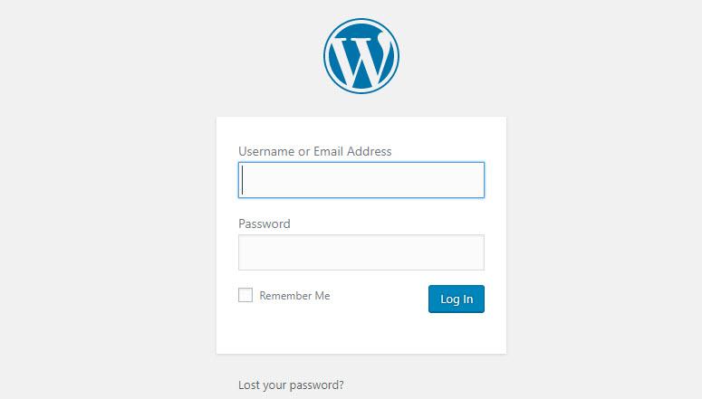 halaman login wordpress