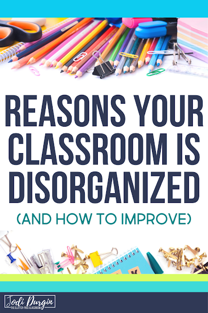 Before you start decluttering your classroom, check out these mistakes elementary teachers make when they declutter.  This blog post written by the Clutter-Free Classroom helps guide you to how to start decluttering your classroom and what actions to avoid during the declutter phase of getting organized.  Read the post now so you can get started on your classroom organization journey. #declutter #classroomcleanup #classroomorganization #clutterfreeclassroom