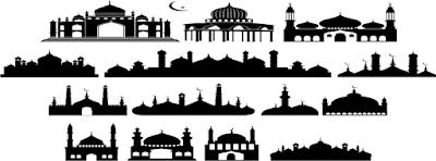 Vector Gambar Masjid cdr