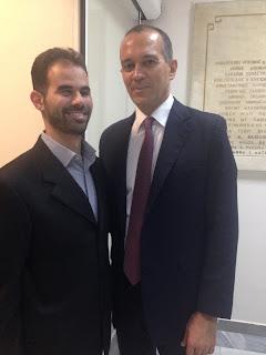 Ο Βαγγέλης με τον κο Γιώργο Αγγελόπουλο