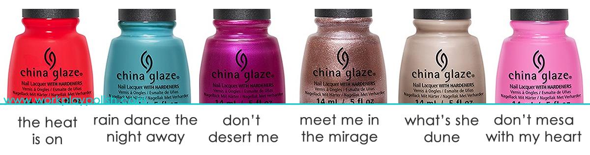 China Glaze Desert Escape Collection
