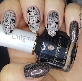 Review-Born Pretty-Store-Throne-Stamping-Polish-White-Knight-Series