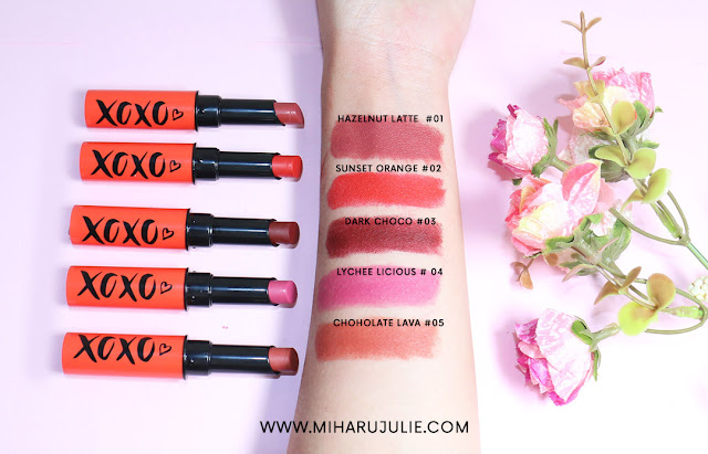 Face2Face Cosmetics lipstick swatches