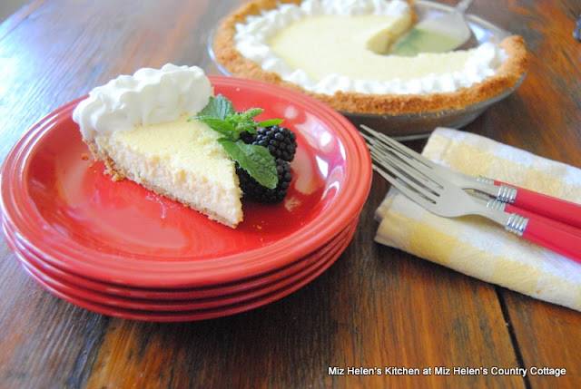 Buttermilk Ice Box Pie at Miz Helen's Country Cottage