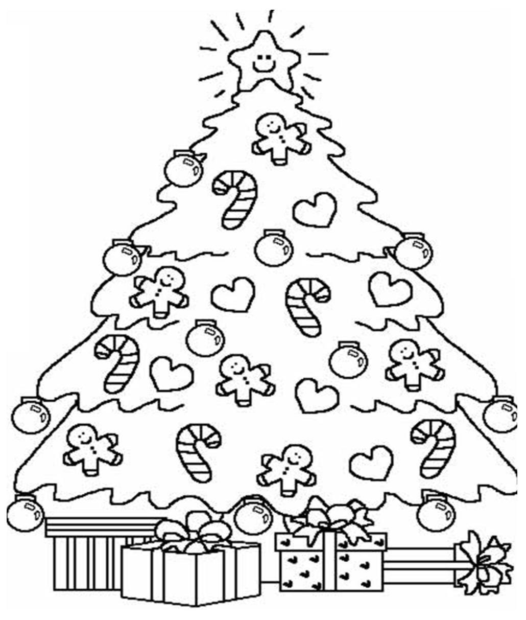Desenhos Para Colorir Papai Noel E Arvore De Natal