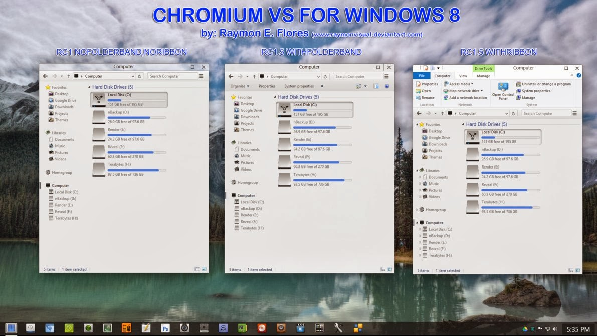 chromium theme for windows8