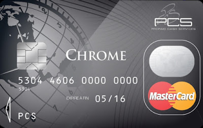 La carte prépayée PCS MasterCard® version CHROME