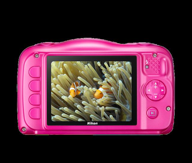 كاميرا نيكون Nikon Coolpix w100 بلون وردي