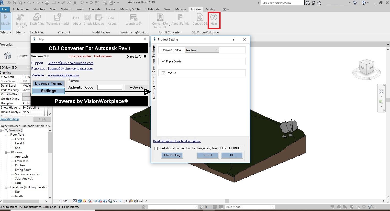 Revit Add-Ons: OBJ Converter Pro for Autodesk® Revit®