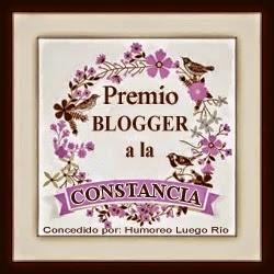Premio  BLOGGER  a la CONSTANCIA 2014