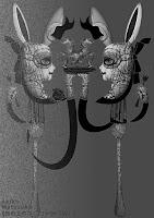 皿の上のユニコーン(W) /松岡晶子digital art(ドロー,ペイント,写真)