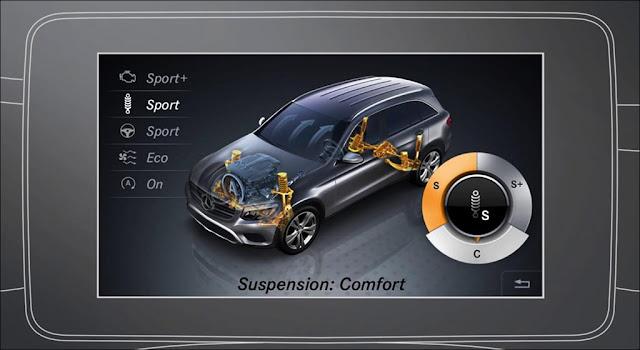 Chế độ DYNAMIC SELECT trên Mercedes GLC 300 4MATIC 2019 với nhiều chế độ lái ưu việt