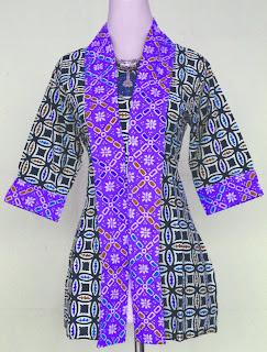 Model Baju Batik Wanita Modern Kombinasi Terbaru