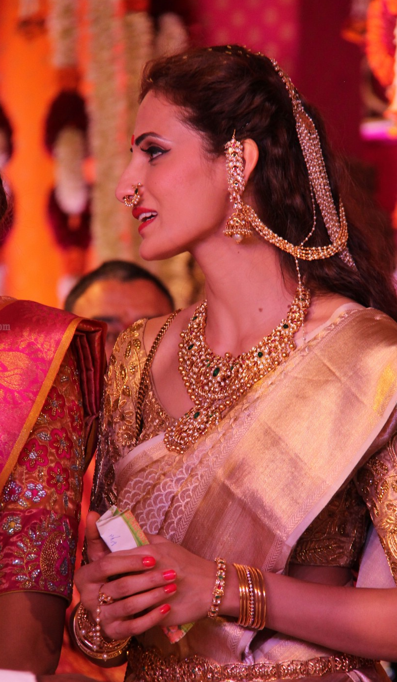 Shilpa Reddy in Bridal Polki Diamond Jewellery