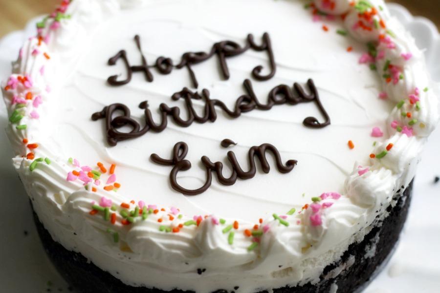 Homemade Birthday Ice Cream Cake Grateful Prayer Thankful Heart