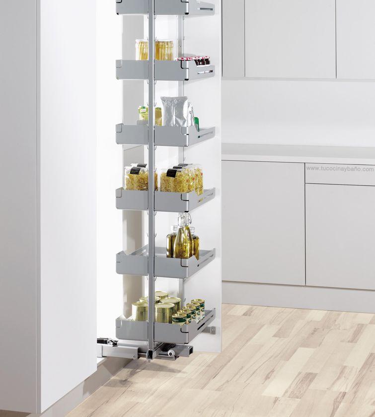 Despensa extraible y giratoria tu cocina y ba o for Mueble despensa cocina
