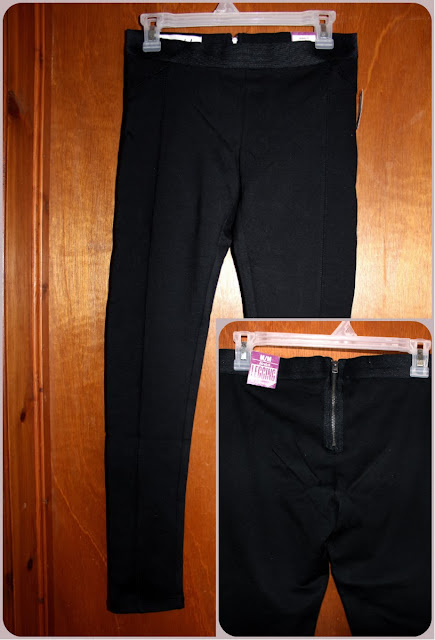 zip-black ponte knit pants