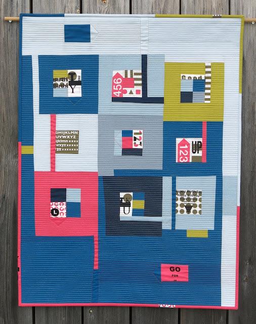 Luna Lovequilts - La vie est trop courte - Improv Log Cabin quilt inspired by Jean Wells book, Intuitive Color and Design