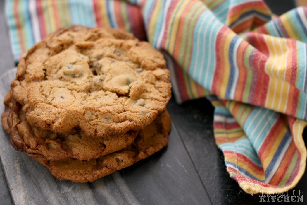 Giant Chocolate Chip Raisin Einkorn Cookies | #EinkornExperiment