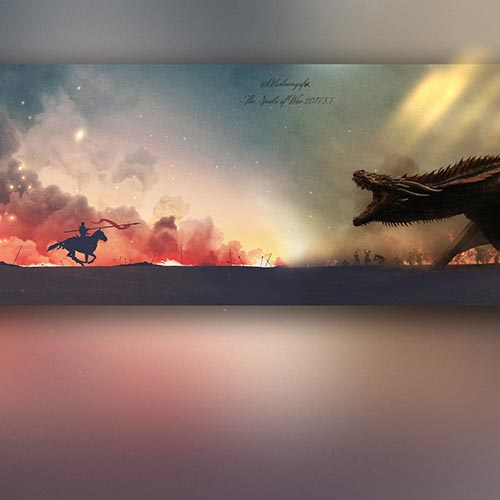 Game of Thrones vs Dragon Wallpaper Engine
