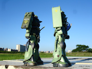 MG MS-06J Ver.2.0 vs MG MS-06F Ver.2.0 比較(側面)