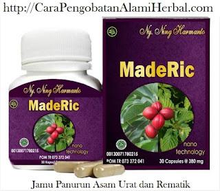 Obat asam urat dan rematik herbal alami MADERIC tradisional Ampuh