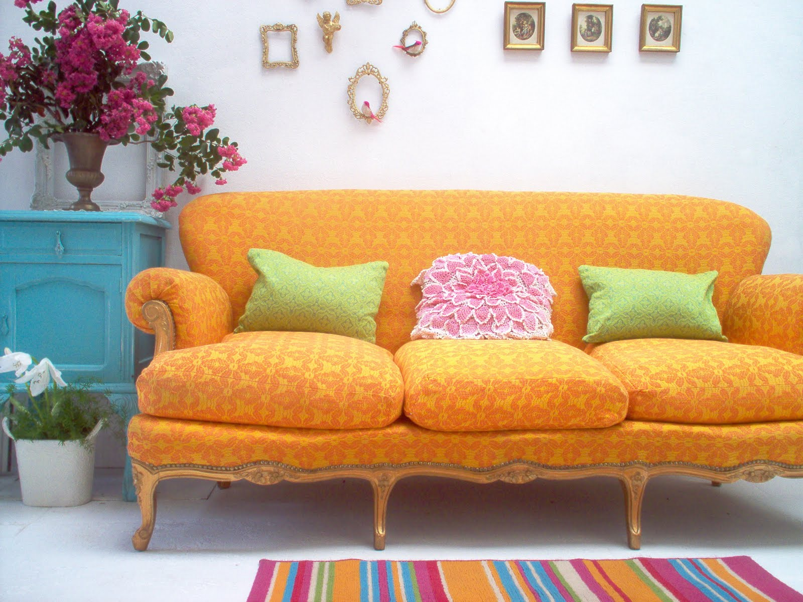 Theme inspiration decor ideas in yellow and orange - Sillones retro vintage ...