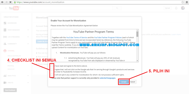 Daftar Akun Adsense Youtube 3 Arieshp