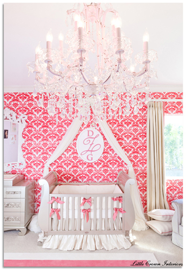 I Heart Pears: Hot Pink and White Chic nursery