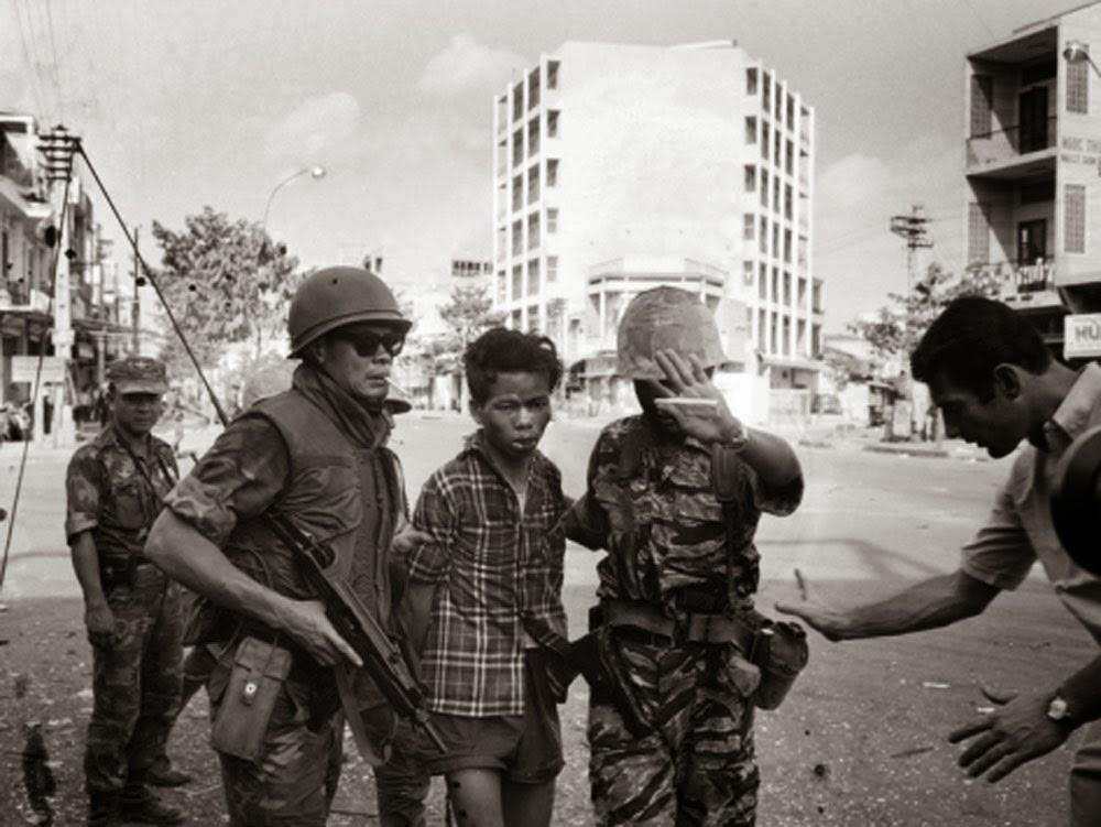 Vietcong officer Nguyen Van Lem under arrest.
