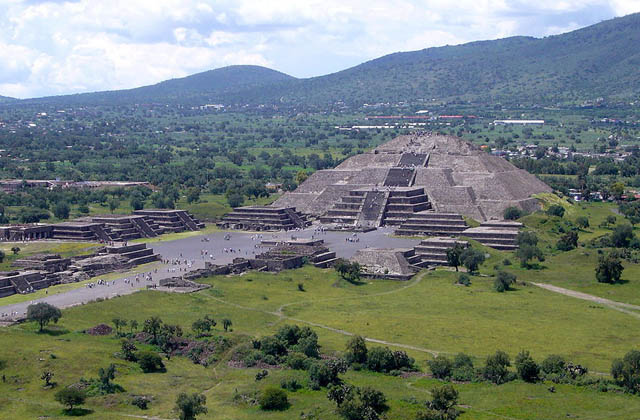 The Precolombian Pyramids Of Teotihuacan Desktop Wallpapers