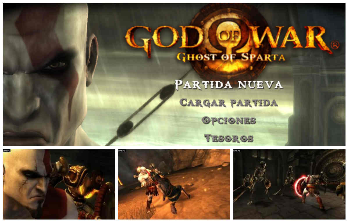 God of War Ghost of Sparta psp capturas